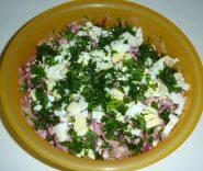 салат из сырых овощей с творогом